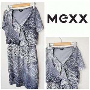 MEXX Ruffle Front Printed Dress